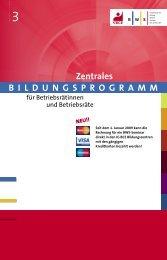 BildunGsproGramm Zentrales - IG BCE - BAYERN