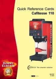 Quick Reference Cards Cafitesse 110 - Friele