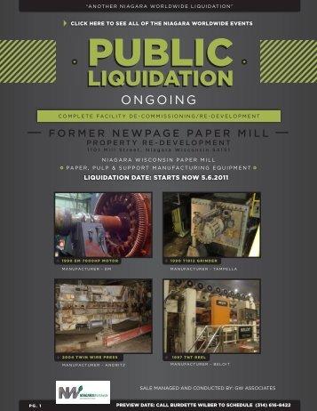 LIQUIDATION LIQUIDATION - Niagara Worldwide