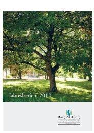 Jahresbericht 2010 - Murg Stiftung