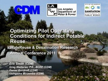 Optimizing Pilot Operating Conditions for Indirect Potable Reuse