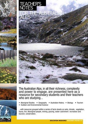 The Australian Alps Education Kit - Australian Alps National Parks