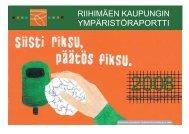 Riihimäen kaupungin ympäristöraportti 2008 - Riihimäki