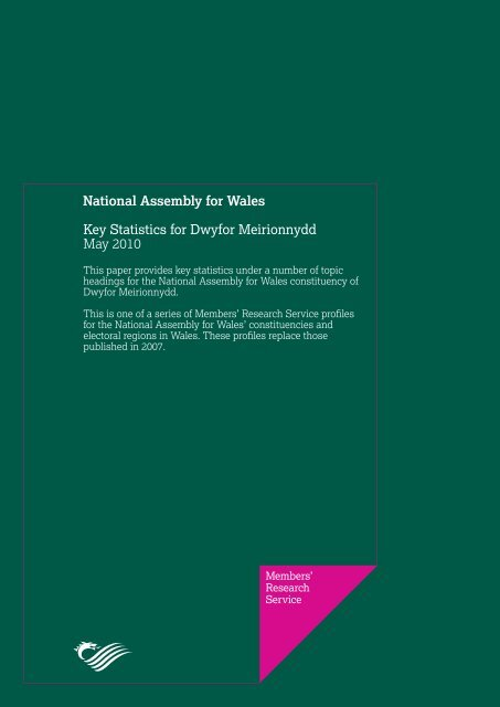 Key Statistics for Dwyfor Meirionnydd - National Assembly for Wales