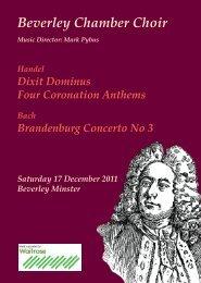 BCC Christmas Programme2011.indd - Beverley Chamber Choir