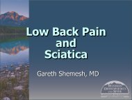 Pain Syndromes: Back Pain And Sciatica