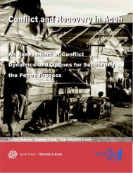 Conflict and Recovery in Aceh - psflibrary.org