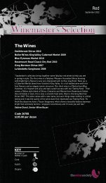 Winemaster's Selection September 2012 - Red - The Wine Society