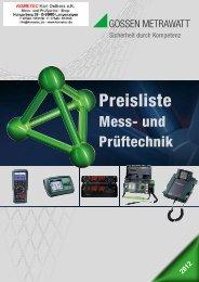 Prüfgeräte Isolationsmessgeräte - PK elektronik Poppe GmbH