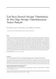 Çok İlaca Dirençli Akciğer Tüberkülozu ile Yeni Olgu - Tüberküloz ve ...