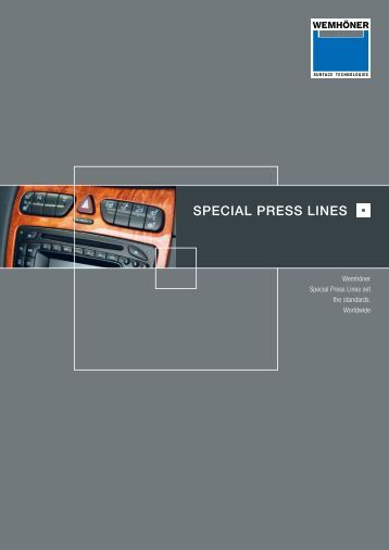 SPECIAL PRESS LINES - Heinrich Wemhöner GmbH & Co. KG