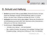 2. Teil - Folien vom 14.10.2013 - zivilrecht.jku.at