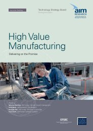 High Value Manufacturing - (AIM) Research