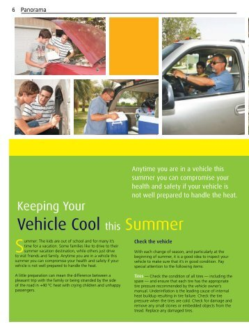 Keeping your Vehicle Cool this Summer - Saudi Aramco