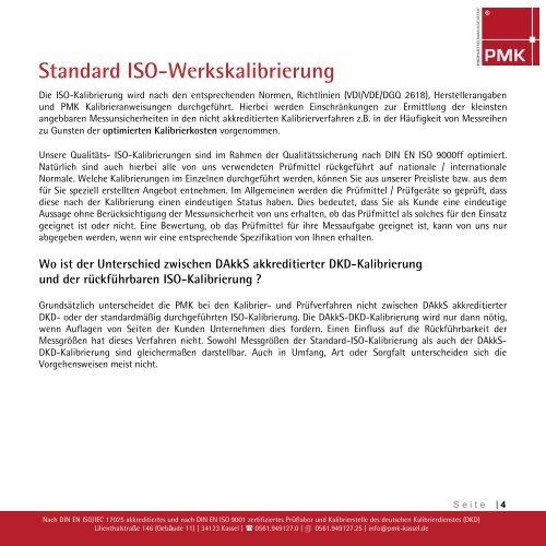 DAkkS-DKD-Kalibrierung - PMK Kassel