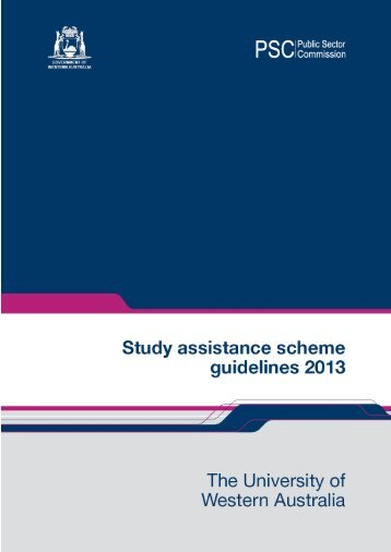 Study assistance scheme guidelines - Public Sector Commission