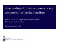 Stewardship of finite resources: a key component of professionalism