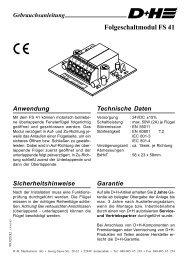 FS 41 - Folgeschaltmodul (142KB) - D+H Mechatronic