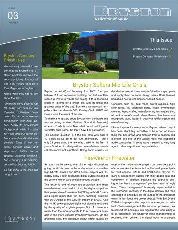 Volume 6, Issue 3 - Bryston