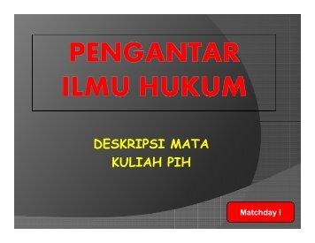 MATERI KULIAH PENGANTAR ILMU HUKUM 1 [Compatibility Mode]