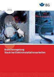 Branchenregelung Staub bei Elektroinstallationsarbeiten - Berlin.de