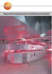 Measurement Engineering for Air Conditioning and Ventilation - Testo
