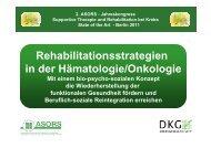 Vortrag: Rehabilitationsstrategien in der Hämatologie/Onkologie ...