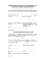 consolidated certificate to be submitted at the time of annual ...