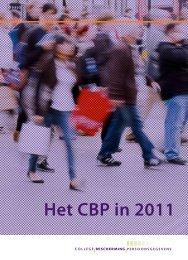 Het CBP in 2011 - College bescherming persoonsgegevens
