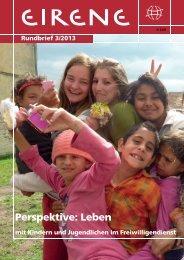 Rundbrief 3/2013 - Perspektive: Leben - Eirene