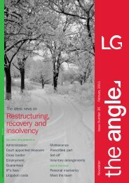 Restructuring, recovery and insolvency - Lawrence Graham
