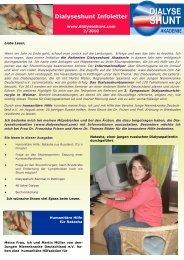Dialyseshunt Infoletter