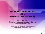 The Food & Eating Module of the American Time Use Survey