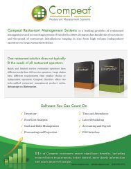 Compeat Restaurant Management Systems is a leading provider of ...
