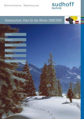 Arbeitsschutz: Alles für den Winter 2008/2009 - sudhoff technik GmbH