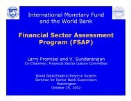 Financial Sector Assessment Program (FSAP) - World Bank