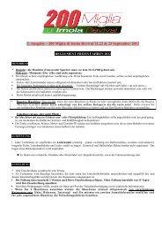 Reglement 2012 - 200 Miglia