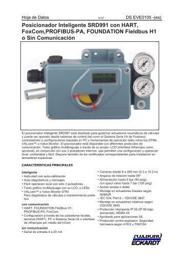 Posicionador Inteligente SRD991 con HART, FoxCom,PROFIBUS ...