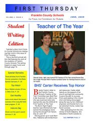 Teacher of The Year Student Writing Edition - Franklin County Schools