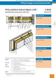 Příčka Duragips, opláštění vnitřní Rigidur 12,5, vnější RB - Rigips