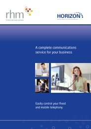 A complete communications service for your business - RHM ...