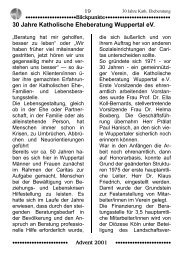 30 Jahre Katholische Eheberatung Wuppertal eV.