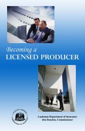Becoming a - Louisiana Department of Insurance