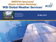 'WSI Global Weather Services' - National Weather Service