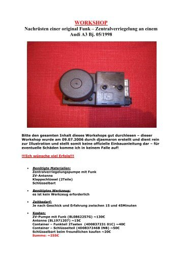 Navi Pinbelegung Motor