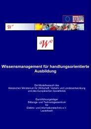 Wissensmanagement für handlungsorientierte Ausbildung