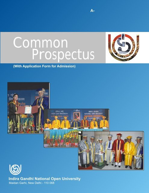 Common Prospectus - Online Admission Form of IGNOU