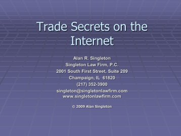 Presentation - Singleton Law Firm, PC