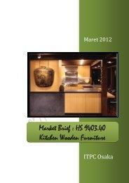 Market Brief : HS 9403.40 Kitchen Wooden Furniture - ITPC Osaka