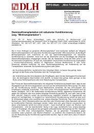 Mini-Transplantation - Deutsche Leukämie- und Lymphom-Hilfe e.V.